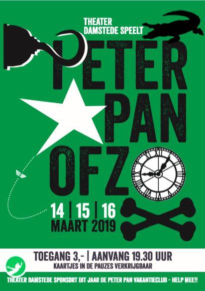 Voorstelling 'Peter Pan ofzo' door Theater Damstede op 14 tot 16 maart 2019