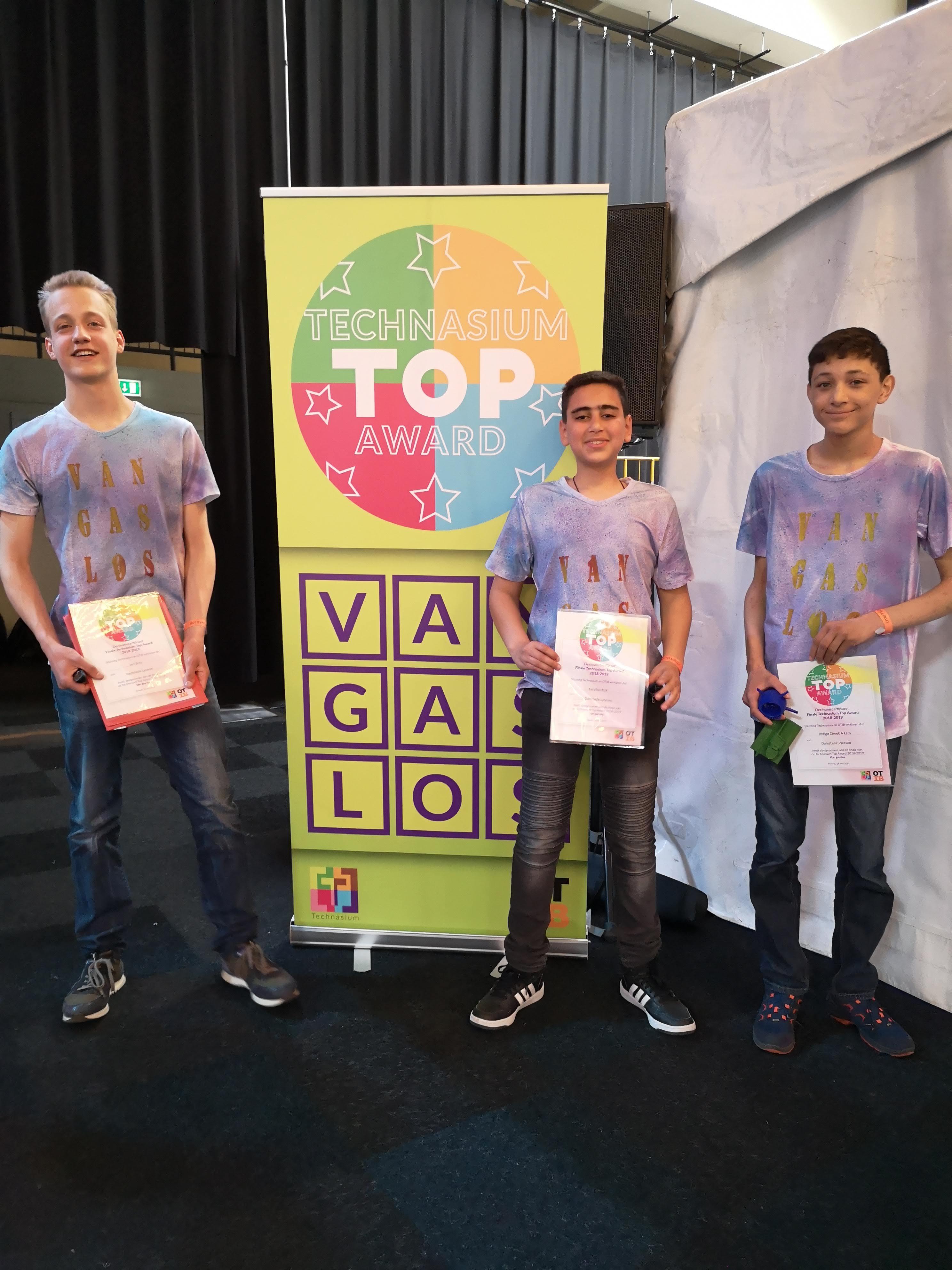 Technasium Damstede Lyceum in de Top 3 van Nederland!