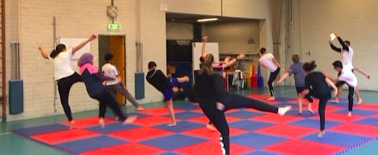 'Tricking is kicking' op Damstede Lyceum